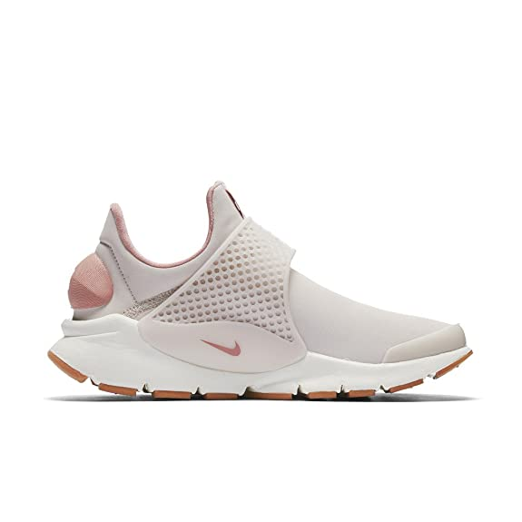check out cf89b abb06 Amazon.com  NIKE Sock Dart PRM Womens Fashion-Sneakers 881186-6015 - SILT  REDSILT RED-RED Stardust-SAIL  Road Running