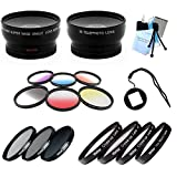 SAVEoN Fits Gopro Hero 4 Wide and Tele W_Filter Kit - Color Kit and Macro Kit