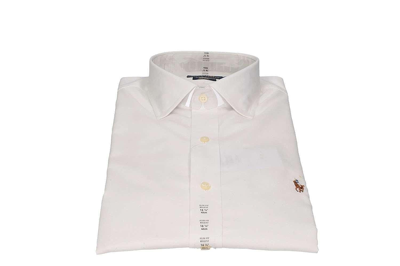 Polo Ralph Lauren 712676721001 Camisas Hombre Blanco 17/: Amazon ...