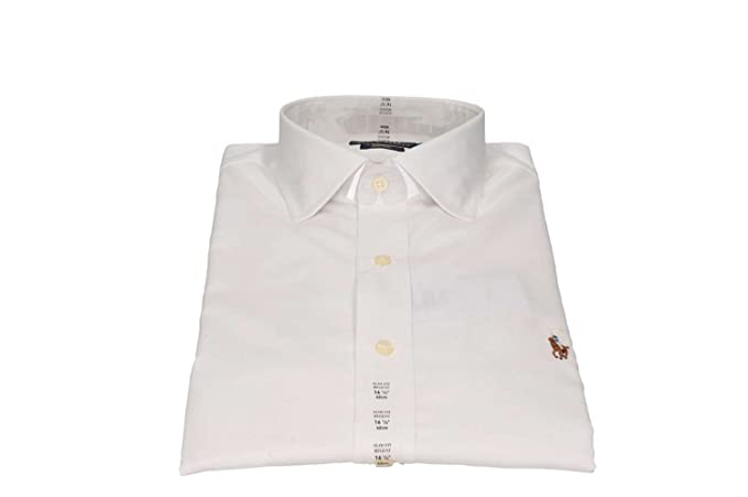 Polo Ralph Lauren 712676721001 Camisas Hombre Blanco 17/: Amazon ...