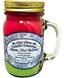 Mmm... Nice Melons! Watermelon, Cantaloupe, Honeydew Melon Scented 13 Ounce Mason Jar Candle By Our Own Candle Company