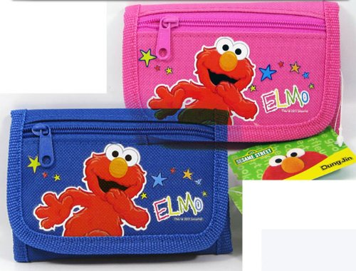 Set (2) Elmo 3step Folding Wallet (Blue & Pink) (Folding Elmo)