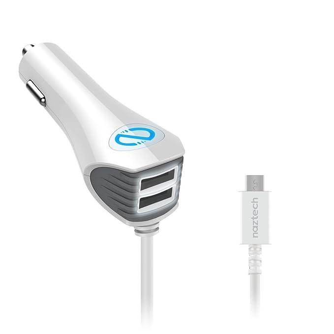 Naztech Trio 4800 mAh Micro USB ultra potente cargador rápido de vehículo para iphone, ipad, Samsung Galaxy, y más