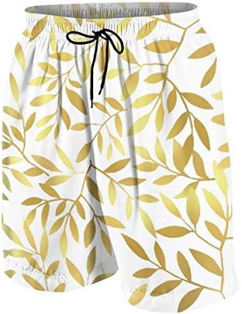 キッズ ビーチパンツ 葉柄 ゴールデン サーフパンツ 海パン 水着 海水パンツ ショートパンツ サーフトランクス スポーツパンツ ジュニア 半ズボン ファッション 人気 おしゃれ 子供 青少年 ボーイズ 水陸両用