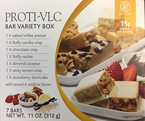 Proti Kind Proti-VLC Variety Box - One each of Seven Flavors (Toffee Pretzel)