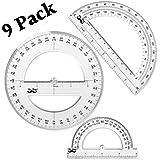 Mr. Pen- Protractor, 9 Pc Protractor Set, Protractor Ruler, Drafting Tools, Circle Protractor, Protractor for Kids, Protractors Classroom Set, Large Protractor, Protactor 360 Degree, Math Geometry Set