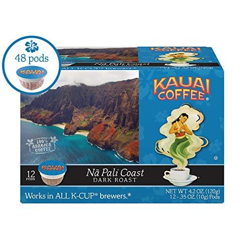 Kauai Coffee Single-serve Pods, Na Pali Coast Dark Roast - 100% Premium Arabica Coffee from Hawaii's Largest Coffee Grower, Compatible with Keurig K-Cup Brewers - 48 Count ()