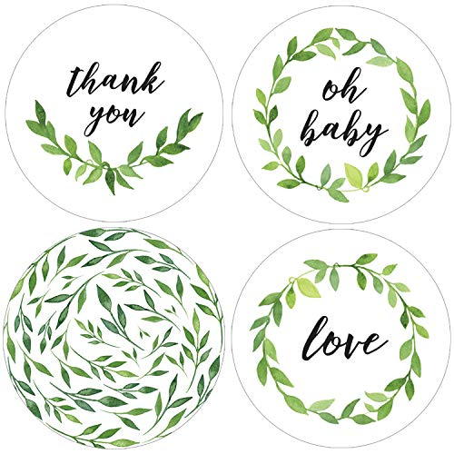 Greenery Baby Shower Favor Labels | 1.75