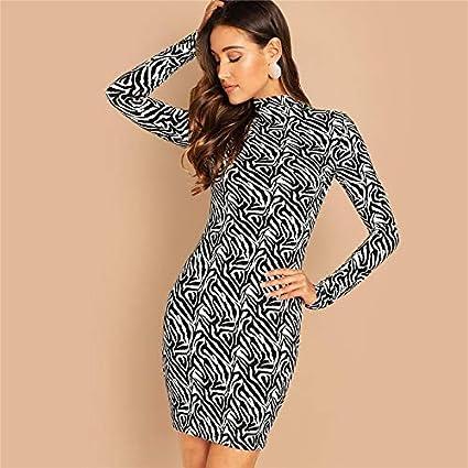 Xgdlyq Mock Neck Festes Kleid Lassig Stehkragen Langarm Kurze Kleider Elegante Frauen Herbst Moderne Dame Kleid Amazon De Sport Freizeit