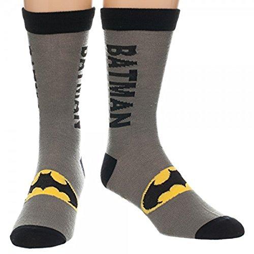 Deadpool Costume Shoes (Batman Text Logo Men's Crew Sock)