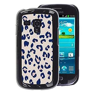 A-type Arte & diseño plástico duro Fundas Cover Cubre Hard Case Cover para Samsung Galaxy S3 MINI 8190 (NOT S3) (Fur Purple Pattern Animal Pink)