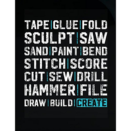 Gifts For Crafters - Tape, Glue, Saw, Sand, Sew, Create - Sticker