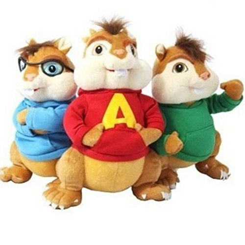 SweetHome18 Stuffed & Plush Animals - 3pcs/lot Alvin and The Chipmunks 4 Alvin Soft Plush Toys Mouse Plush Dolls for Kids 1 PCs from SweetHome18