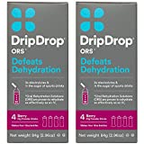 DripDrop ORS 21g Electrolyte Hydration Powder Sticks, 4 Packet Boxes, Berry, 2 Count