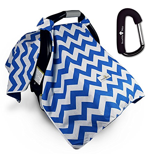 Car Seat Cover w/ Free Stroller Hook – Blue - Shopping Key West Outlet
