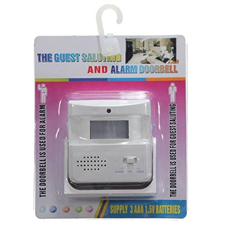 Timbre inalámbrico alarma bienvenida timbre con Sensor de movimiento Detector F tienda Store burrda