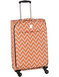 Jenni Chan Aria Madison 28 Inch Spinner Luggage, Orange, One Size