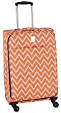 Jenni Chan Aria Madison 28 Inch Spinner Luggage, Orange, One Size Review