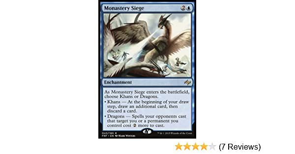 - Fate Reforged 043//185 Rare Monastery Siege