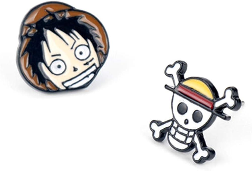 Cotrdocigh 1Pair One Piece Luffy Earring, Animación japonesa Pendientes de metal Personalidad Unisex Colgante de joyería de moda: Amazon.es: Joyería