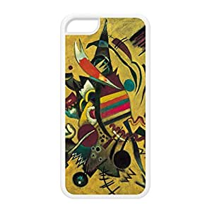 Points by Kandinsky White Silicon Rubber Case for iPhone 5C by Painting Masterpieces + FREE Crystal Clear Screen Protector