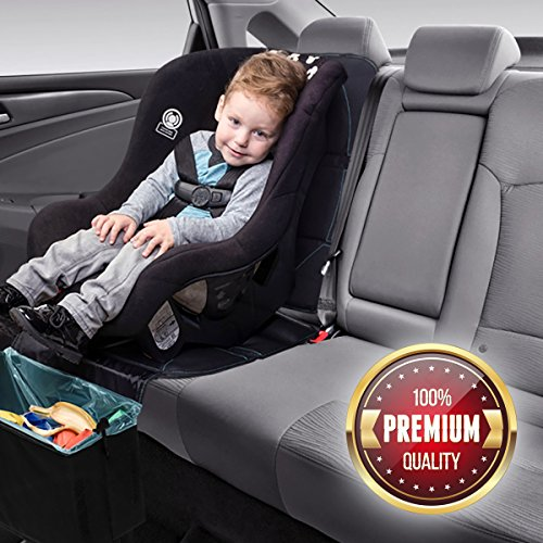 car seat protector with built in trash can babyseater import it all. Black Bedroom Furniture Sets. Home Design Ideas
