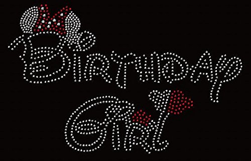 Birthday Rhinestone Iron On Heat Press Crystal MOTIF 1st birthday party girl t-shirt birthday Minnie Mouse Disney Theame - Minnie Mouse Diy Costume