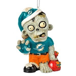 Amazon.com : Miami Dolphins NFL Zombie Christmas Ornament ...