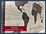 World Map Wall Decor, Custom Wall Art, Wooden Map, Wood Wall Art, Office Decor, Be strong, Courage, Religious art, Christian art, Joshua 1:9, Faith, God