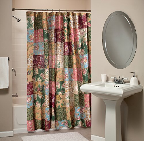 - Greenland Home Antique Chic Patchwork Shower Curtain