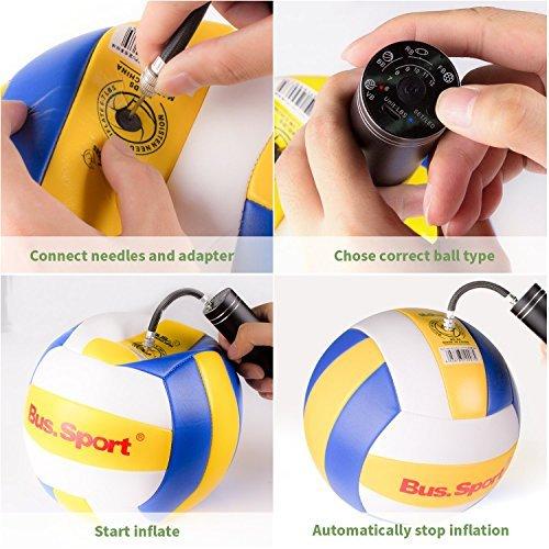 Automatic Morpilot Electric Fast Ball Pump with Needle and Nozzle - Air Pump for Inflatables, Athletic Basketball, Soccer, Volleyball, Football, Sport Ball and Swimming Ring - Faster Inflation - Porta by Morpilot (Image #6)