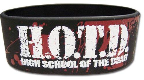 High School Of Of Of The Dead Logo Pvc Schweißband 63ef02