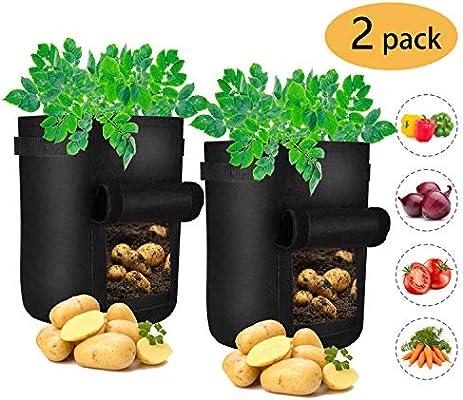 iTrunk Paquete de 2 Bolsas de Cultivo de Papa, Bolsa de 7 galones ...