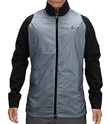 Puma Golf NA Men\'s Storm Stretch Jacket, Black/Tradewinds, XX-Large