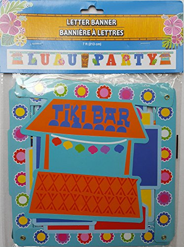 Luau Letter Banner - 7 Foot Summer Luau Party Letter Hanging Banner Tiki Bar