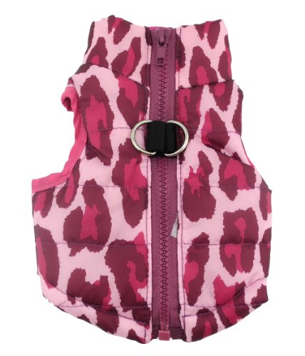 New Various Pet Cat Dog Soft Padded Vest Harness Small dog clothes Hot Pink Leopard - Usps Time Estimated Shipping