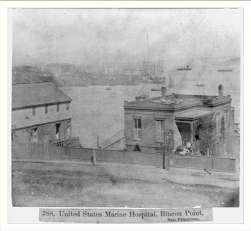 Historic Print (L): U.S. Marine Hospital, Rincon Point, San Francisco