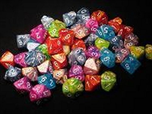 Chessex Manufacturing LE854 Assorted D10 Dice 7 Bag - 50 by Chessex Manufacturing