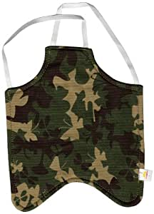 Hen Saver Apron/Saddle Large Garden Green Camouflage, Double Strap