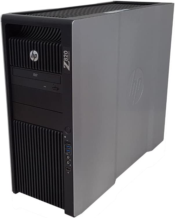HP Z820 Workstation Intel Xeon 16 Core 2.6GHz 128GB RAM 500GB Solid State Drive + 2TB Hard Drive Dual NVIDIA Quadro FX 3800 Graphics CD/DVDRW Windows 10 Pro 64-bit (Renewed)