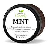 Isabella's Clearly MINT - Natural Remineralizing Tooth Powder. Strengthen, Polish, Detoxify Teeth. Fluoride Free, High Mineral, Whitening Powdered Toothpaste for Adults & Kids. Fresh Mint Flavor (40g)