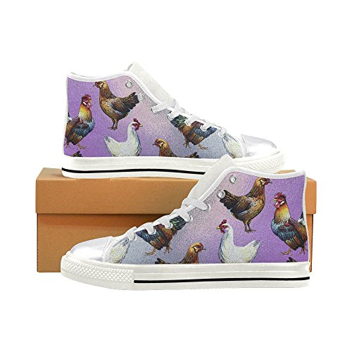 Chicken Classic Shoes Womens Fashion Top Custom D Canvas Sneaker Story High wHOIHEq