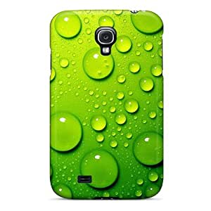 High Quality Shock Absorbing Case For Galaxy S4-green Water Drops