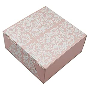 Colorful Kraft Paper Gift Decorative Treats Cookies Candy Packaging Boxes Paperboard Folding Homemade Soap Present Boxes for Christmas Birthday Wedding (4.5x4.5x2.0 inch(11.4x11.4x5 cm), 25 pcs)