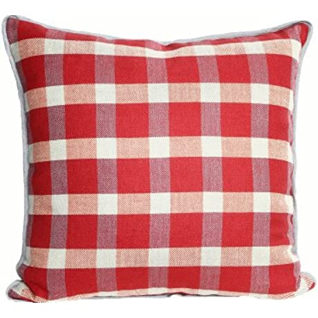 Kathryn Ireland Bradford Belgium Linen 27 Inch Grand Decorative European Pillow Red