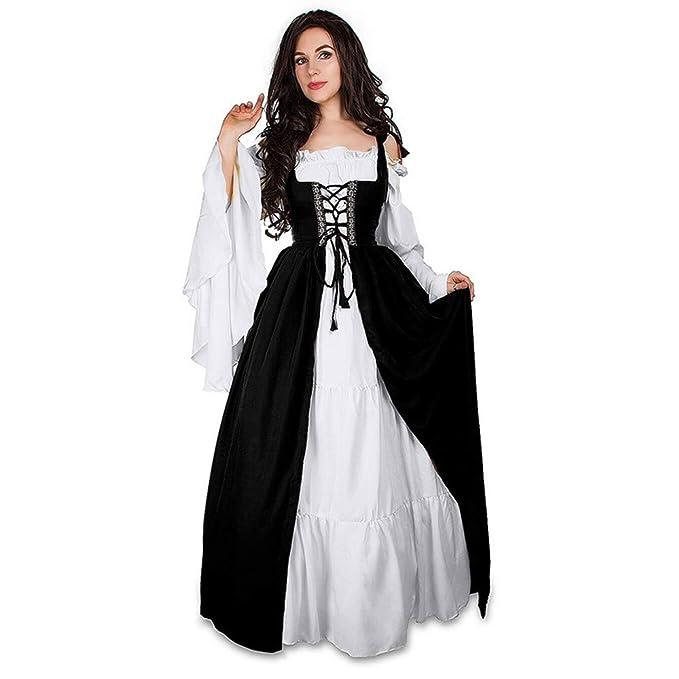 8b2b7d3a02 👗 Vestidos De Mujer Vendaje Corsé Medieval Renacimiento Vintage Party Club  Vestido Elegante Dress  Amazon.es  Ropa y accesorios