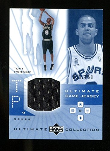 - Tony Parker 2002 Upper Deck Ultimate Collection Rookie Game Jersey /250 Spurs MT