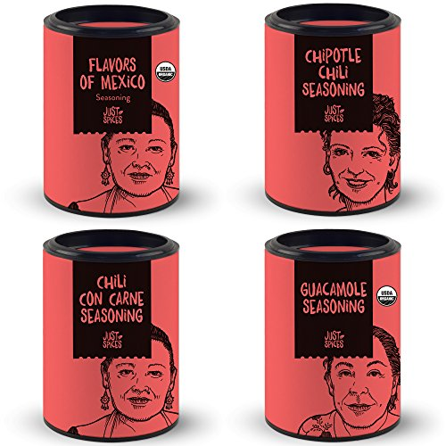 Mexican Spices Gift Set | Variety Box of 4 Essential Seasoning Blends for Cooking Mexican Food | Including Guacamole Seasoning - Chili con Carne - Chipotle - Flavors of Mexico by Just Spices