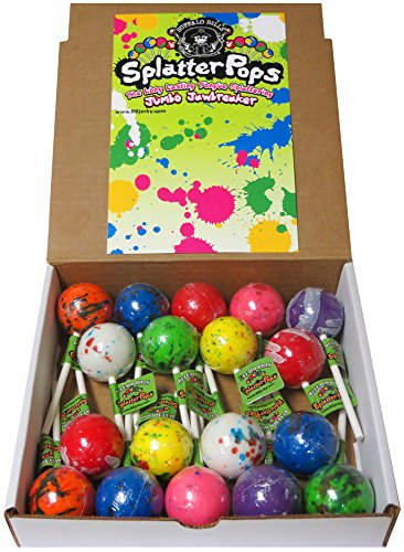 Buffalo Bills SplatterPops (18 assorted jumbo jawbreaker lollipops per 3-lb box)