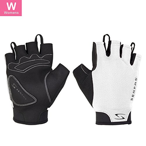 Serfas Women's SSW Starter Short Finger Cycling Gloves (White - M)